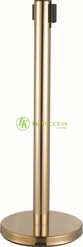 Gold Brass Retractable Belt Q-Up Stand