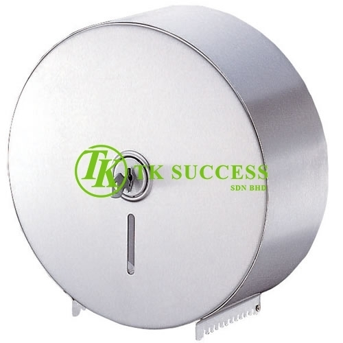 Stainless Steel Jumbo Roll Tissue Dispenser (Center Lock)