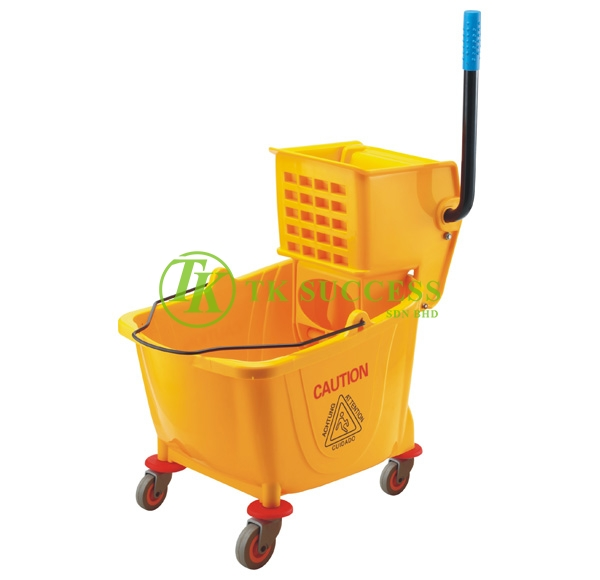 Single Wringer Mop Bucket 32 Liter (Side Press) - Yellow