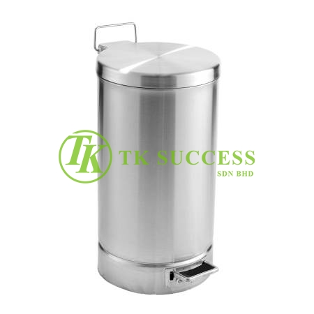 Stainless Steel Round Pedal Bin 22L