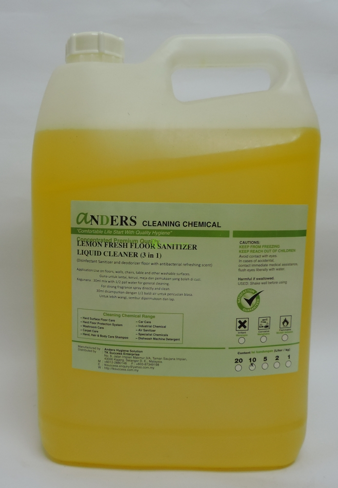 Anders Lemon Fresh Cleaner (Disinfectant, Deodorizer & Cleaner)