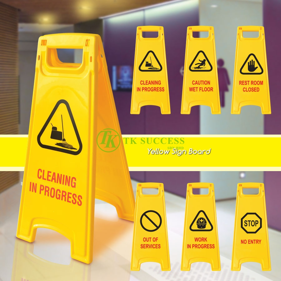 Yellow Caution Sign Board