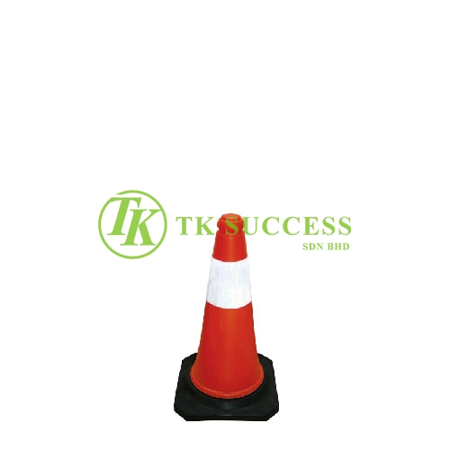 Traffic Cone 18 with Reflective Sticker (Rubber Base)