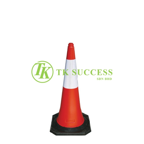 Traffic Cone 30 with Reflective Sticker (Rubber Base)
