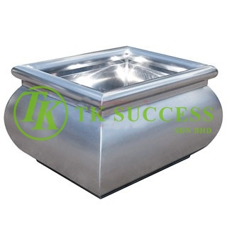 Stainless Steel Planter Pot (Square)