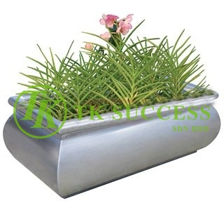 Stainless Steel Planter  Pot  (Rectangular)