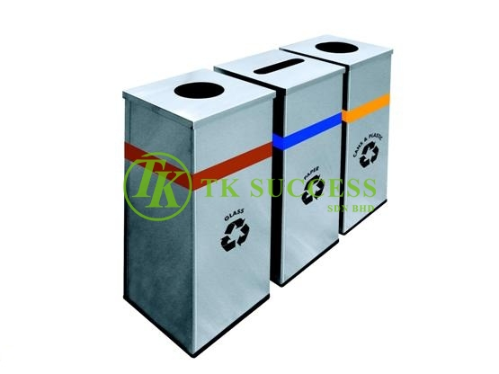 Stainless Steel Square Recycle Bin 127