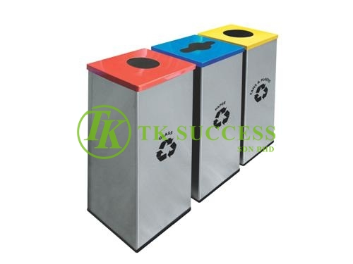 Stainless Steel Square Recycle Bins 128