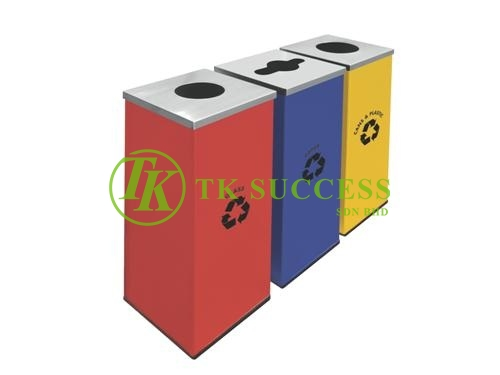 Stainless Steel Square Recycle Bins 129
