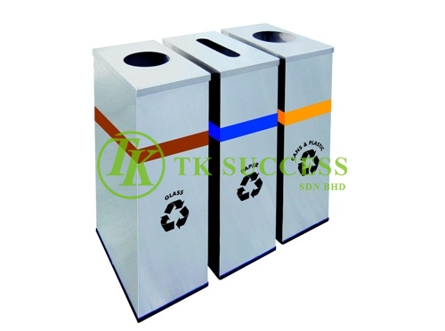 Stainless Steel Rectangular Recycle Bins 133