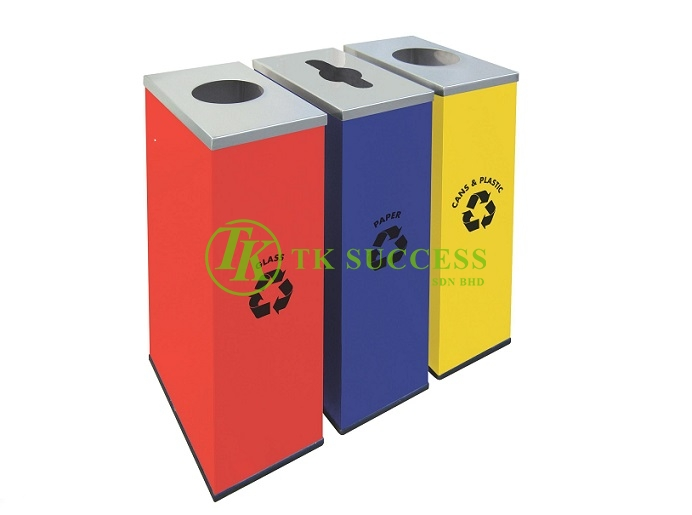 Stainless Steel Rectangular Recycle Bins 134