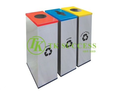 Stainless Steel Rectangular Recycle Bins 135