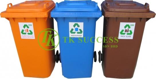 Recycle Bin 120 Flat Top (Schaefer Germany) 3in1