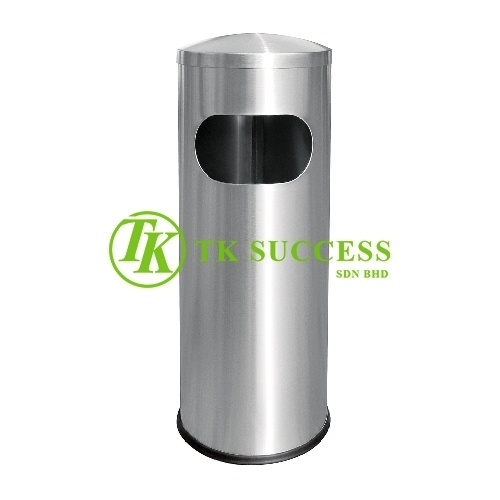 Stainless Steel Round Waste  Bin c/w Dome Top