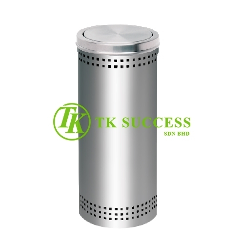 Stainless Steel Litter Bin c/w Flip Top