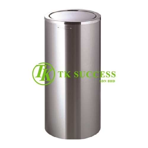 Stainless Steel Round Waste  Bin c/w Flip Top