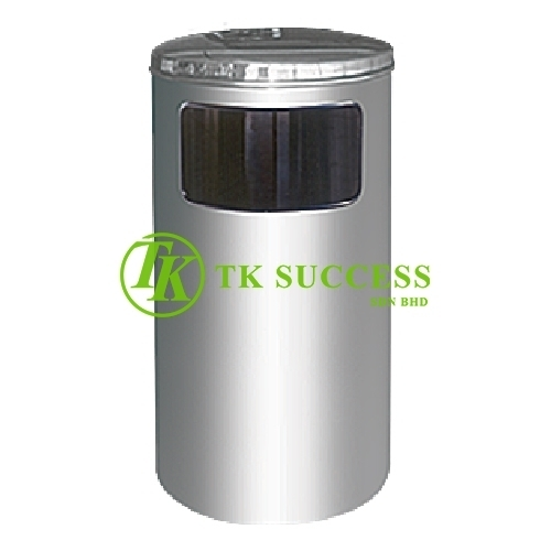Stainless Steel Litter Bin c/w Flat Top
