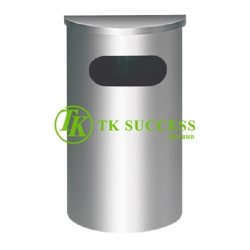 Stainless Steel Semi Round Bin c/w  Flat Top