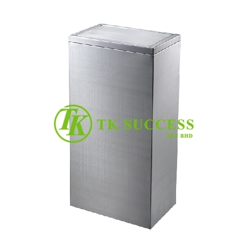 Stainless Steel Rectangular Bin With Stopper