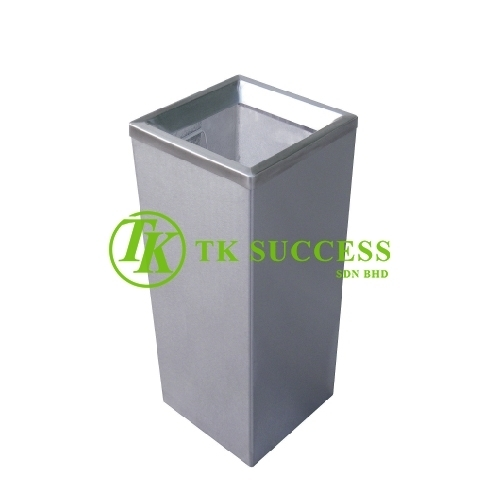 Stainless Steel Square Waste Bin c/w Open Top