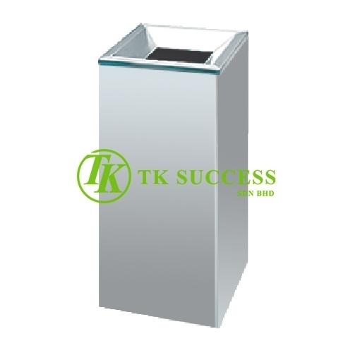 Stainless Steel Open Top Square Litter Bin