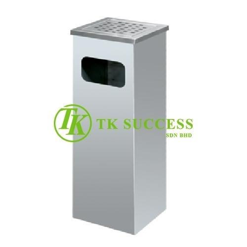 Stainless Steel Square Ashtray Bin