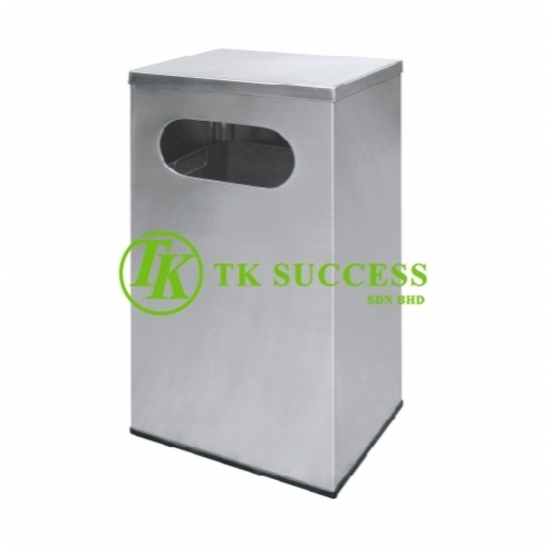 Stainless Steel Rectangular Waste Bin c/w FlatTop