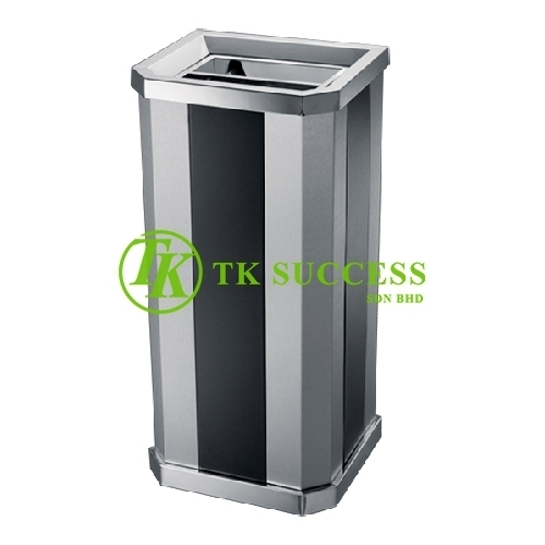 Stainless Steel + Print Coating Diamond Shape Open Top Bin