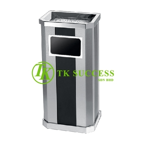 Stainless Steel Print Coating Diamond Shape Open Top Bin