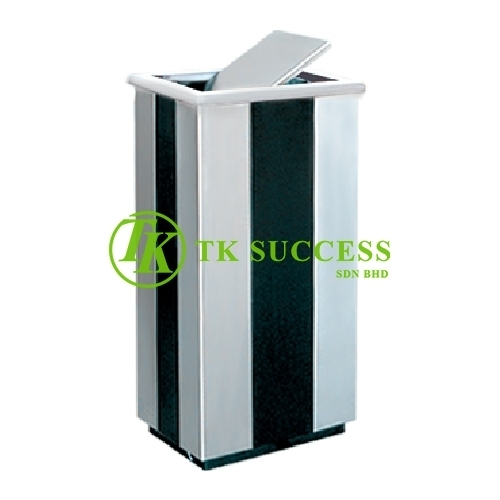 Stainless Steel Powder Coated Rectangular Flip Top Bin