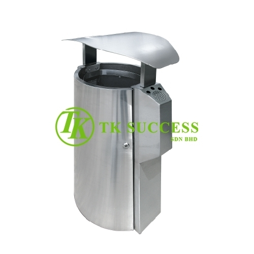 Stainless Steel Waste Bin c/w Open Top & Ashtray