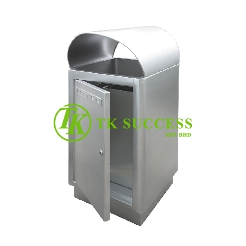 Stainless Steel Rectangular Waste Bin c/w Open Top