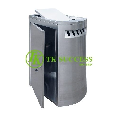 Stainless Steel Rectangular Waste Bin c/w SwingTop