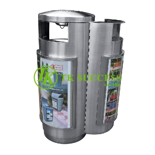 Stainless Steel Advertisment Bin