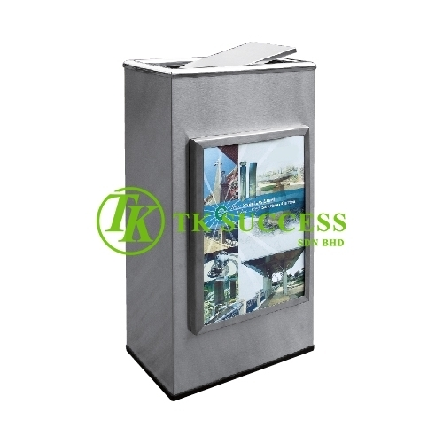 Stainless Steel Advertisement Bin