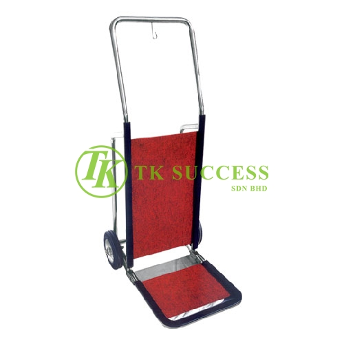 Stainless Steel Bell Boy Hand Truck C/W Carpet