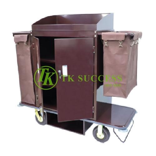 Powder Coating Maid Trolley C/W Organiser & Door