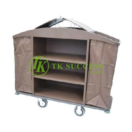 Powder Coated Maid Trolley C/W Organiser & Cover