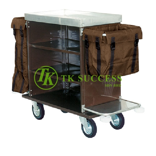 Powder Coated Maid Trolley
