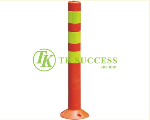 PE Elastic Pole (Yellow Stripe) c/w Bolt Nut