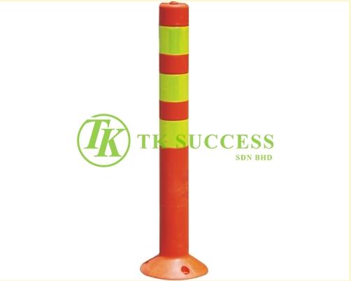 PE Elastic Pole (Yellow Stripe) c/w Bolt Nut