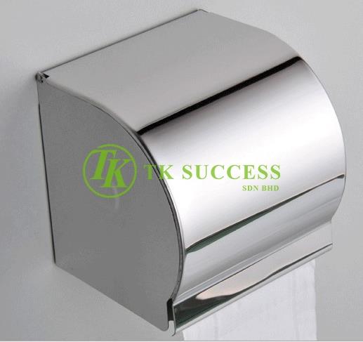 Stainless Steel Toilet Roll Holder (Full Cover)
