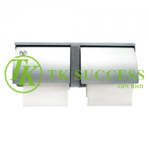 Stainless Steel Toilet Roll Holder (Double Roll)