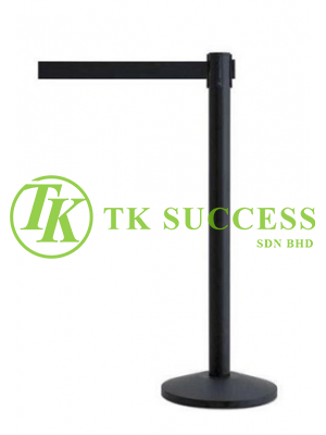 Black Retractable Belt Q-Up Stand