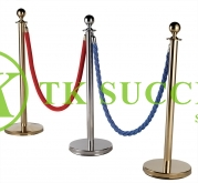 Stainless Steel Velvet Rope Q-Up Stand (Ball Top)