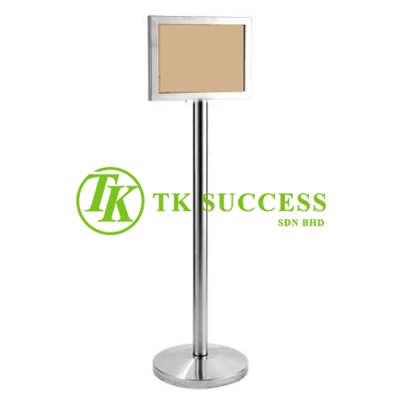 Stainless Steel A3 Sign Board Stand (Horizontal)