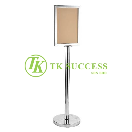 Stainless Steel A3 Sign Board Stand (Vertical)