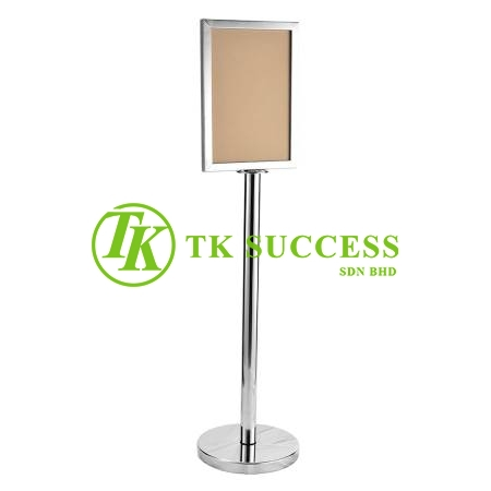 Stainless Steel A4 Sign Board Stand (Vertical)