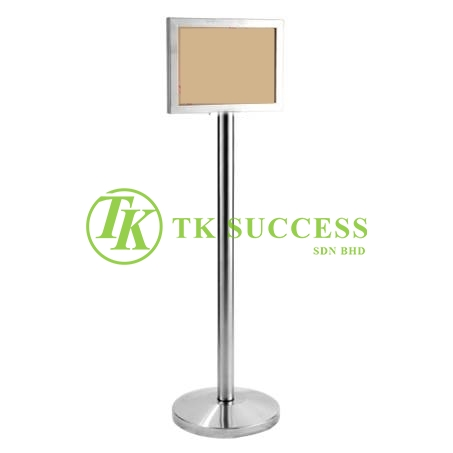 Stainless Steel A4 Sign Board Stand (Horizontal)