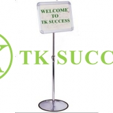 Stainless Steel Adjustable A4 Sign Board Stand (360 degree)